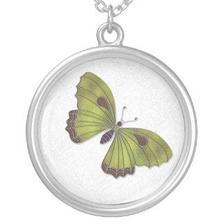 Bridesmaid Necklace Butterfly Brocade green