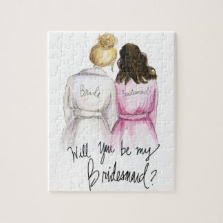 Bridesmaid? Puzzle Bl Bun Bride Br Waves Bm