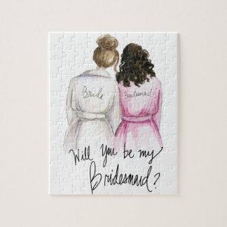 Bridesmaid? Puzzle Br Bun Bride Dk Br Curls Bm