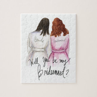 Bridesmaid? Puzzle Dk Br Bride A Curls Maid