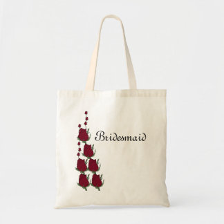 Bridesmaid red rose wedding bag