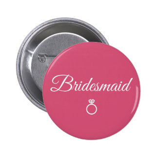 Bridesmaid ring 2 inch round button