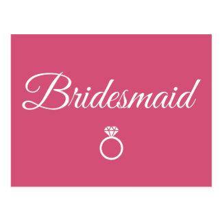 Bridesmaid ring postcard