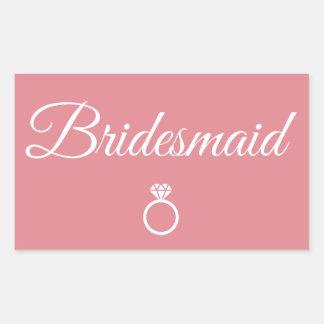 Bridesmaid ring rectangular sticker
