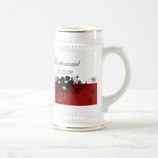 Bridesmaid Stein burgundy