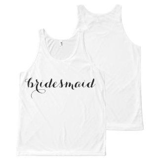 Bridesmaid Tank All-Over Print Tank Top