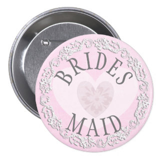 Bridesmaid Wedding Bridal Shower Party Button
