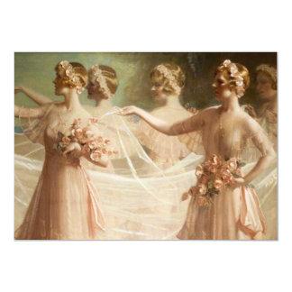 Bridesmaids 13 Cm X 18 Cm Invitation Card