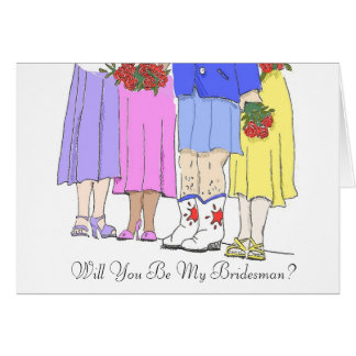 Bridesman, Will You Be My Bridesman? Note Card