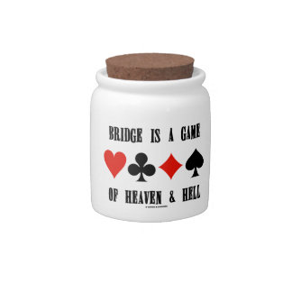 Bridge Is A Game Of Heaven & Hell (Card Suits) Candy Dishes