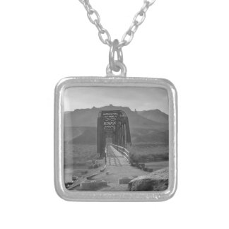 Bridge on Snake River - by Fern Savannah Silver Plated Necklace