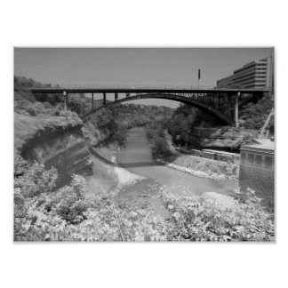Bridge Over River Gorge  Photograph Poster