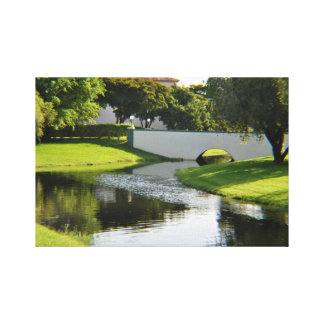 Bridge over water gallery wrapped canvas