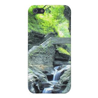 bridge over waterfall iphone case iPhone 5 cases