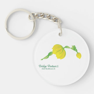 (Bridge Posture I) Circle (single-sided) Keychain