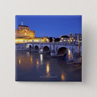 Bridge Sant Angelo and Castel Sant Angelo at 15 Cm Square Badge