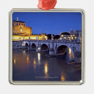 Bridge Sant Angelo and Castel Sant Angelo at Christmas Ornament