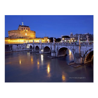 Bridge Sant Angelo and Castel Sant Angelo at Postcard