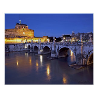Bridge Sant Angelo and Castel Sant Angelo at Poster