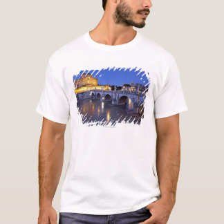 Bridge Sant Angelo and Castel Sant Angelo at T-Shirt