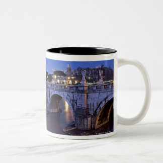 Bridge Sant Angelo and Castel Sant Angelo at Two-Tone Coffee Mug