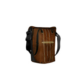 Bridge Strings Sound Holes Custom Name Commuter Bag