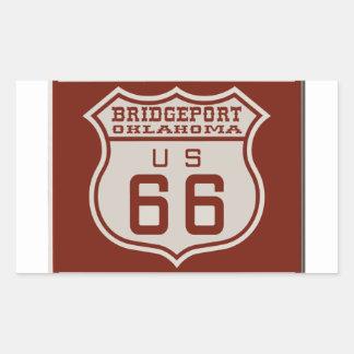 BRIDGEPORT66 RECTANGULAR STICKER