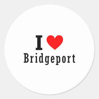 Bridgeport, Alabama City Design Classic Round Sticker