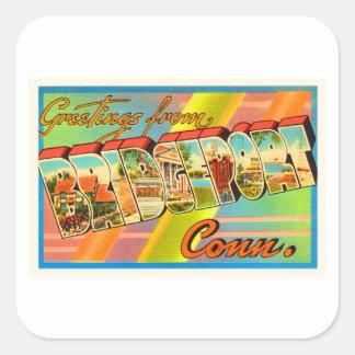 Bridgeport Connecticut CT Vintage Travel Souvenir Square Sticker