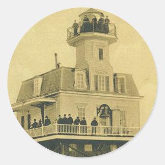 Bridgeport Harbor Lighthouse Classic Round Sticker