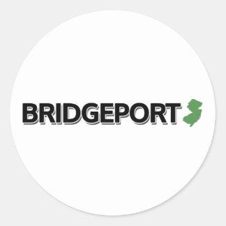 Bridgeport, New Jersey Classic Round Sticker