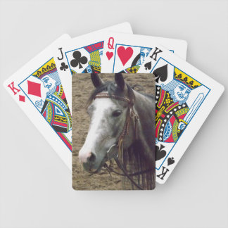 Bridled Gray Horse Playing Cards