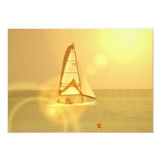Brigh Sunset Sail Invitaiton 13 Cm X 18 Cm Invitation Card