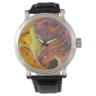 Bright Abstract Watch- Orange & Pink Wrist Watches