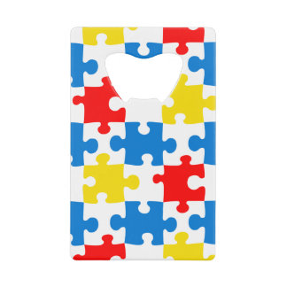 Bright and Colorful Puzzle Pieces Pattern
