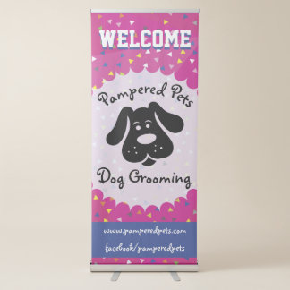 Bright and Fun Dog Grooming Business Banner