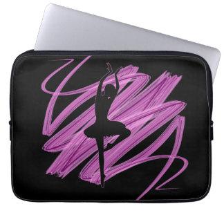 Bright ballerina dancer laptop sleeve