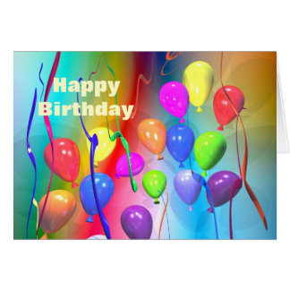 Bright Birthday Balloons Card