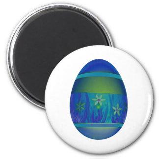 Bright Blue Egg Magnet