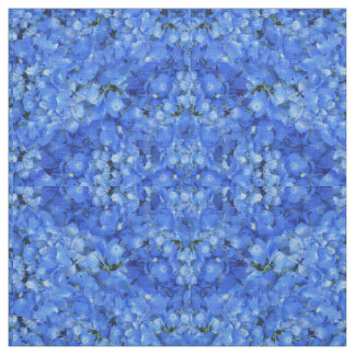 Bright Blue Hydrangea Floral Pattern Cloth