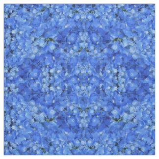Bright Blue Hydrangea Floral Pattern Cloth Fabric
