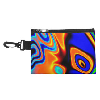 Bright Blue Orange Yellow Abstract Accessories Bags