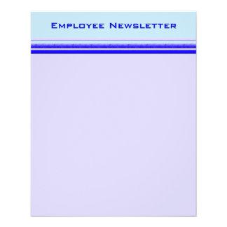 Bright blue stripe on pastel professional business 11.5 cm x 14 cm flyer