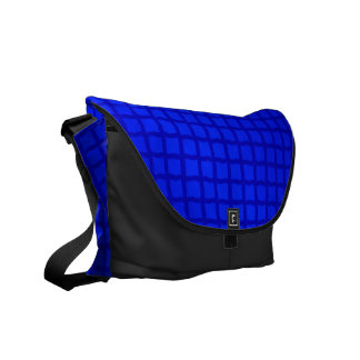 Bright Blue Tiles Messenger Bags