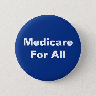 Bright Blue White Medicare For All Button