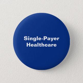 Bright Blue White Single-Payer Button