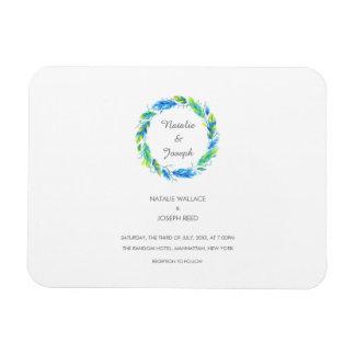 Bright Boho | Modern Wedding Save The Date Magnet