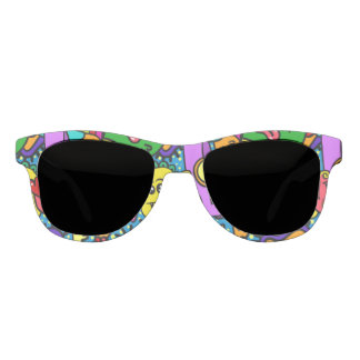 Bright Colorful Cartoon Monsters Sunglasses