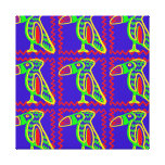 Bright Colorful Fun Toucan Tropical Bird Pattern Gallery Wrap Canvas