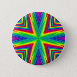 Bright colorful kaleidoscope 6 cm round badge